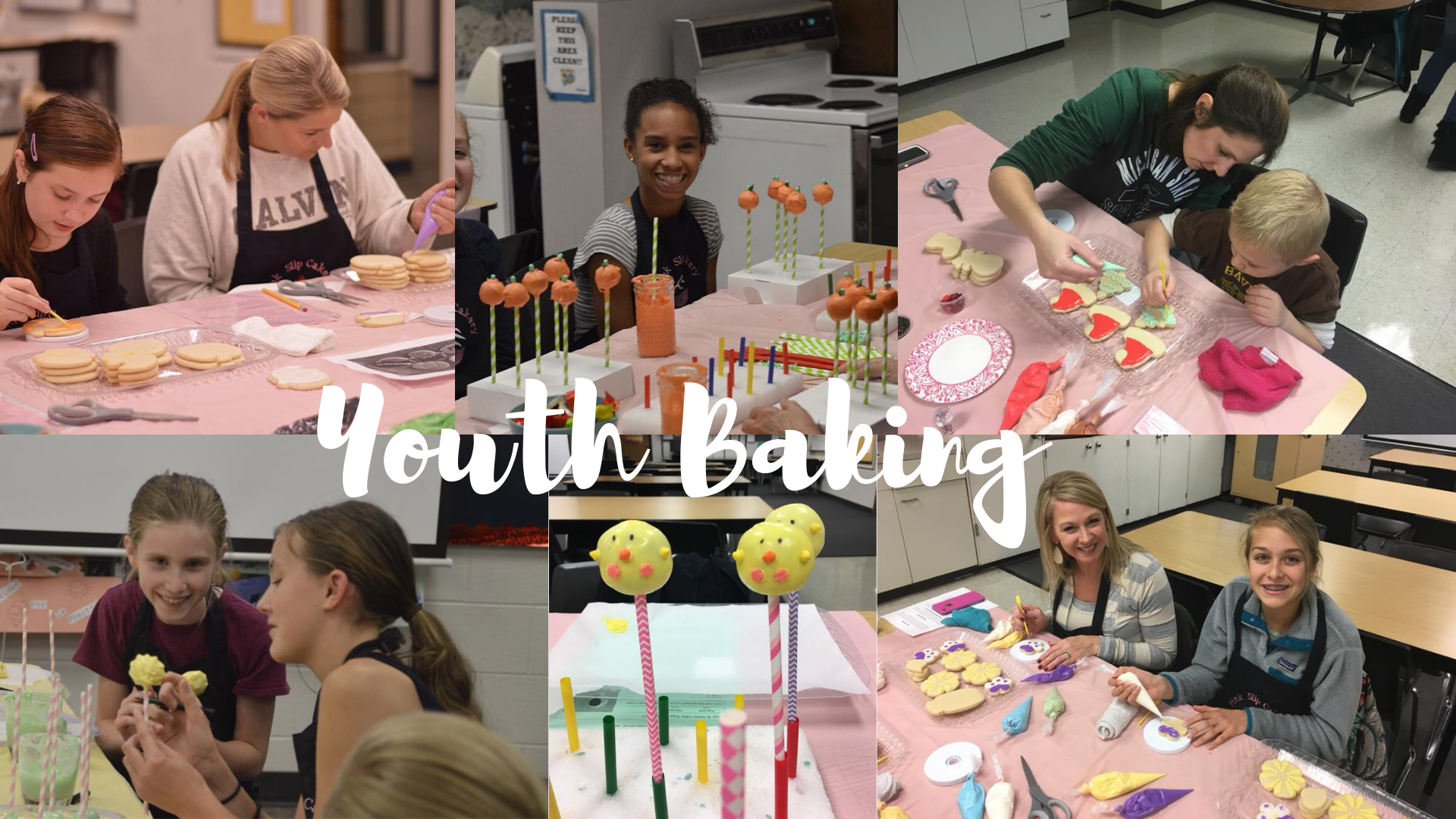children making cake pops and cookie decorating